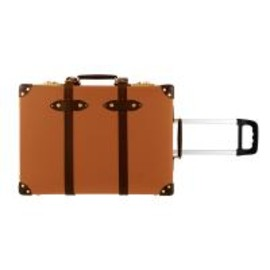 "Globe Trotter - CENTENARY Orange & Tan - 21"" TROLLEY CASE"