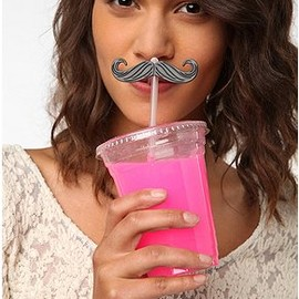 urbanoutfitters - stache straw