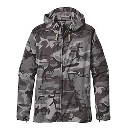 patagonia - Men's Stretch Terre Planing Hoody - Forest Camo: Forge Grey
