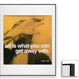 Andy Warhol - Famous Quotes,Matted Prints,Art is (Dark Brown Frame)