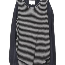 3.1 Phillip Lim - l/s t-shirt w/silk sleeves
