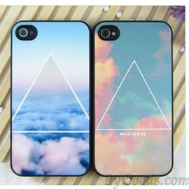 Triangle Cloud Matte iPhone Case For IPhone 4/4s/5