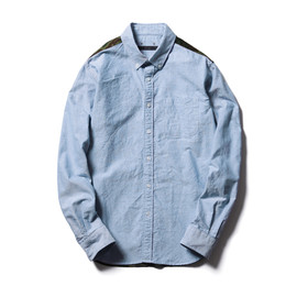 SOPHNET. - 2013 S/S CAMOUFLAGE PANEL OXFORD B.D SHIRT
