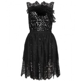 Nina Ricci - LACE DRESS WITH SKIRT OVERLAY