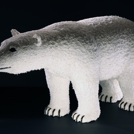NIGO®、片山正通、橋本彰一 - Life size polar bear in papier mache (fur ver.)