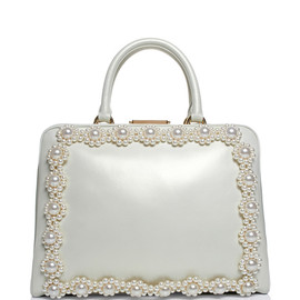 SIMONE ROCHA - Daisy Pearl Embellished Leather Case