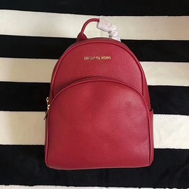 MICHAEL KORS - MICHAEL Michael Kors Abbey Leather Backpack Red