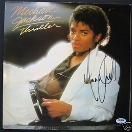 Michael Jackson - Michael Jackson Thriller Autographed Record