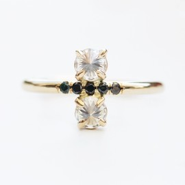 mociun - Custom stacked diamond pinky ring