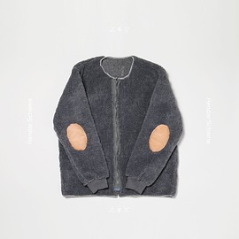 Hender Scheme - patch liner jacket: czech army liner jacket/horse leather