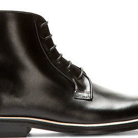 Carven - Black Leather Minimal Ankle Boots