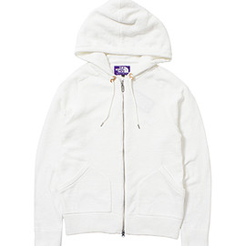 THE NORTH FACE PURPLE LABEL - Knit Pile Zip Up Parka white