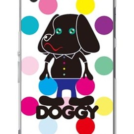 SECOND SKIN - Doggy マルチカラードット (ソフトTPUクリア) design by Moisture / for Xperia Z1 SOL23/au