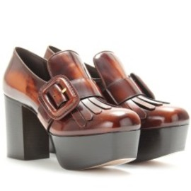 miu miu - PLATFORM BOXCALF LOAFERS