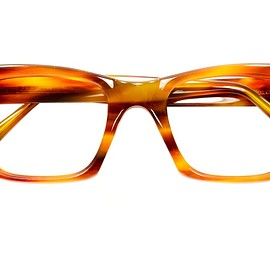 1950s BRITISH VINTAGE - BRITISH VINTAGE EYEWEAR NO HINGE CLASSIC THICK WELLINGTON HONEY AMBER MADE IN ENGLAND