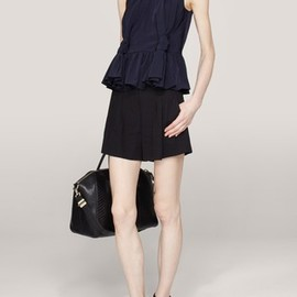 Carven - Knotted crepe top