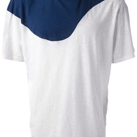 NEIL BARRETT - bicolour t-shirt/white×navy
