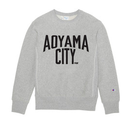 MR.GENTLEMAN - CHAMPION CREW-NECK SWEAT(AOYAMA CITY PRINT)