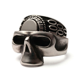 JAM HOME MADE - HALF SKULL × HALF COLLEGE RING