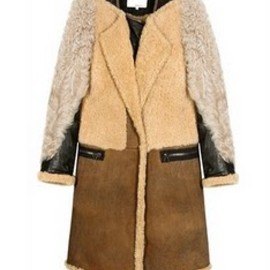 3.1 Phillip Lim - Panelled shearling coat