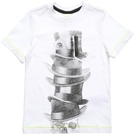 DIESEL KIDS - Boys White Skull Print T-Shirt,
