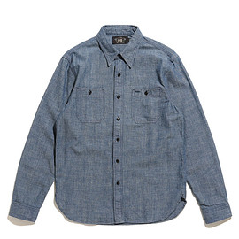 RRL - Indigo Chambray Workshirt-Rince