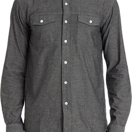 Saturdays Surf NYC - Two Chest Pocket Chambray Shirt in Gray for Men (Grey)