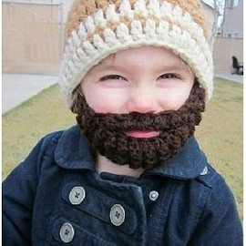 Kids ULTIMATE Bearded Beanie Orange