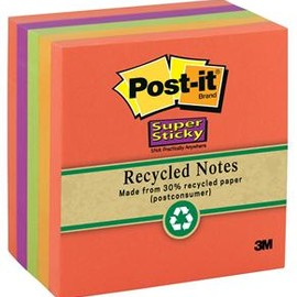 3M - Post-it Super Sticky Recycled Notes,