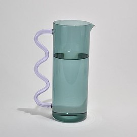 Casa Shop - Wave Pitcher in Teal/Lilac