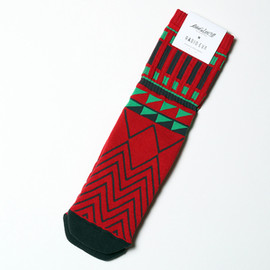 RADIO EVA - RADIO EVA305 EVA High-end Socks 01 by MARCOMONDEレッド