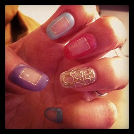 coquine nail - Clear  Window +Alphabet