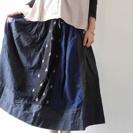 TIGRE BROCANTE - MIX絣Ficelle Skirt