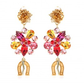 DOLCE&GABBANA - Crystal-embellished clip-on earrings