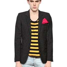 Yves Saint Laurent - LIGHT RIPPED COOL WOOL JACKET