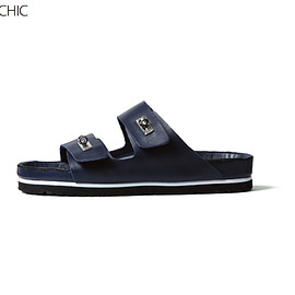 uniform experiment - PIPPICHIC BUCKLE COMFORT SANDALS/navy