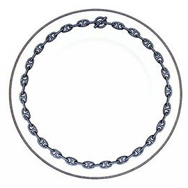 HERMES - Chaine d'ancre Blue Dinner Plate