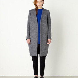 ENFOLD - 【ENFOLD】COLLARLESS COAT