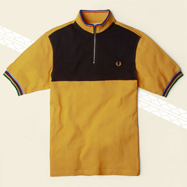 Fred Perry × Bradley Wiggins - Front Panel Cycling Shirt
