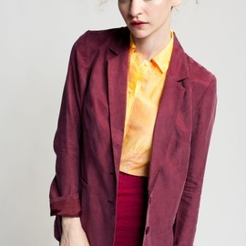 something else - wine colored blazer from Natalie Wood with cool cut-out on back.