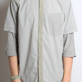 STONE ISLAND SHADOW PROJECT - Layered Military Shirt in Cement