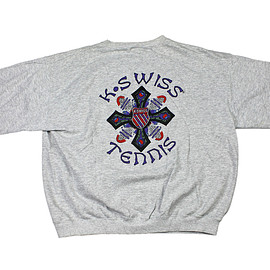 K-SWISS - Vintage 90s K-Swiss National Tennis Team Sweatshirt Made in USA Mens Size Large