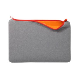 Côte&Ciel - Laptop Diver Sleeve long opening 2012 for MacBook Pro 13 GREY MELANGE+CARMINE RED BINDING+MANDARIN INSIDE
