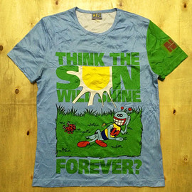 w&lt - Authentic W< Walter Van Beirendonck Iconic 100% Polyester Full Printed Tshirt Sz M Made in Italy