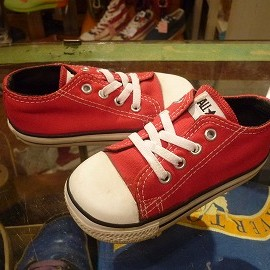 "converse - 「<used>90's converse CHILD ALLSTAR OX red""made in USA"" size:KIDS US7/h(13.5cm) 1900yen」完売"
