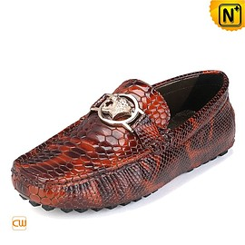 cwmalls - Mens Embossed Leather Driving Shoes Loafers CW715018