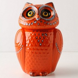 Anthropologie - Wise Ol' Canister, Orange