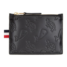 THOM BROWNE - Black Whale & Turtle Embossed Pouch