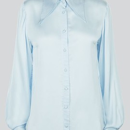 ALEXACHUNG - THE PERFECT BLOUSE IN BLUE