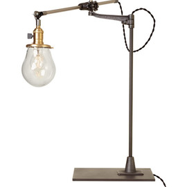 O.C. White Industrial Table Lamp - Lone Rock Bench-Mount Table Lamp
